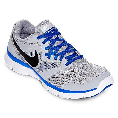Nike Flex Experience Run 3 Men'S Running Shoes 652846-006 Size 10.5 D (Standard Width) Wolf Grey/Black/Hyper Cobalt/White