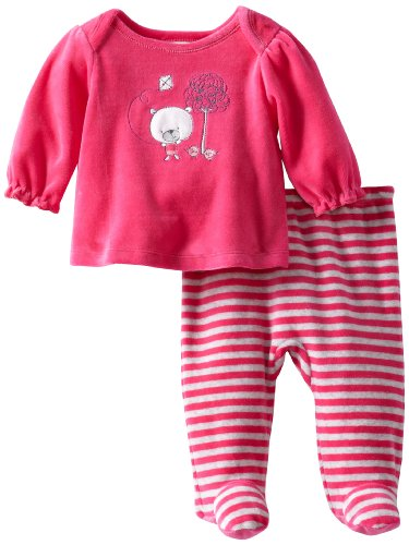Mud Pie Baby-girls Newborn Heart Tunic and Biker Short Set