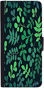 Snoogg Seamless Pattern With Leaf Graphic Snap On Hard Back Leather + Pc Flip...