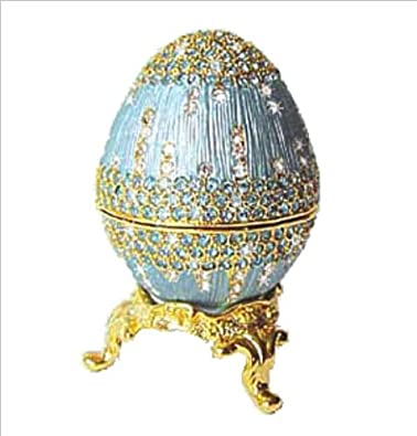 Powder Blue Faberge style Egg Box  $49.95