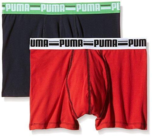 Puma Brand 2P Boxer, Uomo, Rosso, M