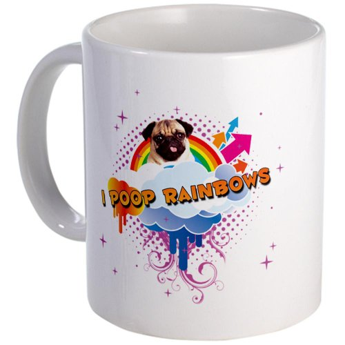 I Poop Rainbows Pug Mug Mug By Cafepress