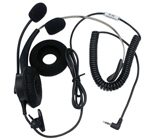Sundely Call Center Telephone /Ip Phone Headset With Adjustable Boom Mic & Screw Cable For Audiovox Cisco Linksys Grandstream Kyocera Qualcomm 2.5Mm 1-Pin Jack