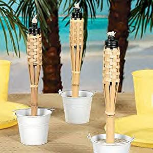 Mini Bamboo Torches - Set of 6
