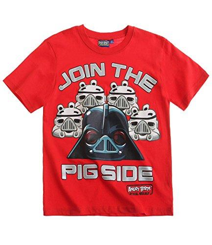 Angry-Birds-Star-Wars-Chicos-Camiseta-de-manga-corta-Rojo
