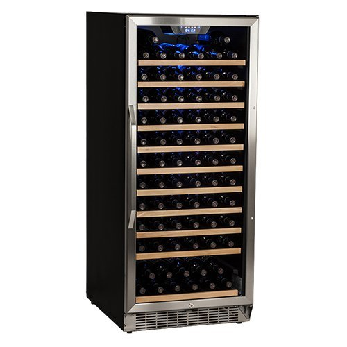 Edgestar 121 Bottle Single Zone Built-in Wine Cooler - Stainless Steel and Black