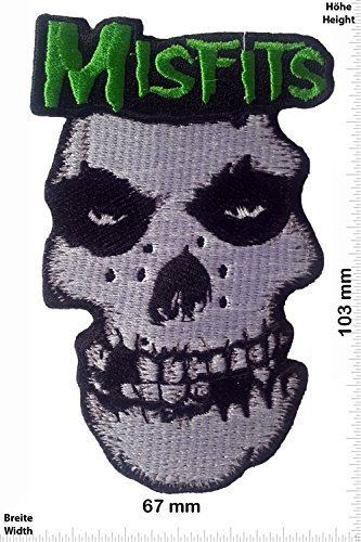 Patch - Misfits - HQ - MusicPatch - Rock - Chaleco - toppa - applicazione - Ricamato termo-adesivo - Give Away