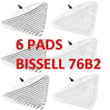 6 PACK BISSELL Steam Mop Select Replacement Pads, 2 pk, 76B2A Fit 94E9 compatible