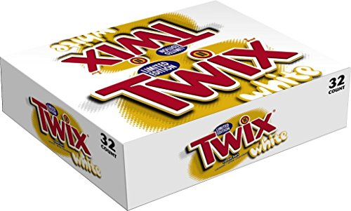 TWIX White Chocolate Caramel Singles Size Cookie Bar Candy 1.62-Ounce Bar 32-Count Box (Big Twix Bar compare prices)