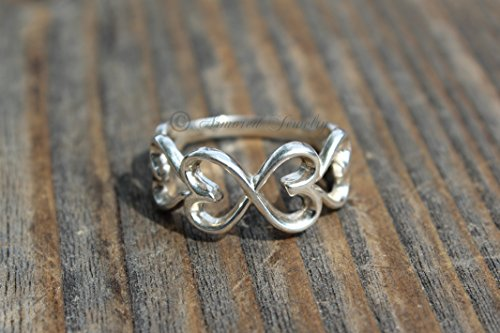A Sterling Silver Infinity Heart Ring - Infinite Hearts