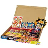 Small Sweet Gift Box By Tasty Tubs Filled with 21 different types of classic retro sweets & chocolate including Jazzles, Black Jack Bars, Tango Shockers and much much more, this Sweet box is fantastic value and a perfect present for Christmas / birthday