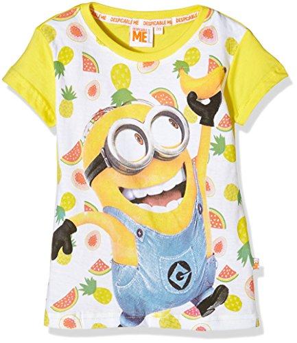 Universal-T-Shirt-Minions-Camiseta-para-nias-amarillo-4