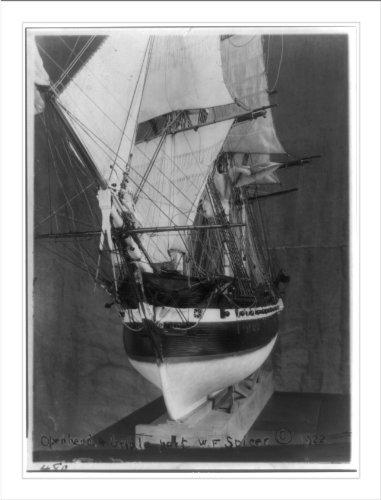 Historic Print (L): [Model ship]: Openhead and girdle? - port