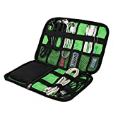 Urmiss Waterproof USB Cable Hard Drive Cell Phone Cord Holder Electronics Accessory Shuttle SD Card Reader Organizer Travel Portable Carrying Storage Bag Headphone Charger Clutter Protection Case