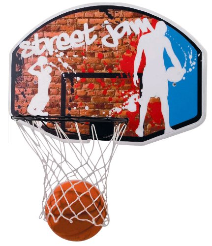 BASKETBALL SET WITH 45CM HOOP NET 90CM BACKBOARD & SIZE 7 BALL