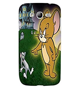 ColourCraft Funny Cat and Rat Design Back Case Cover for SAMSUNG GALAXY GRAND I9082