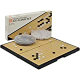 "Magnetic Go Board w/ Single Convex Magnetic Plastic Stones Set- 11.3"" x 11.2"""