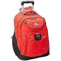 High Sierra Powerglide Wheeled Backpack, Red