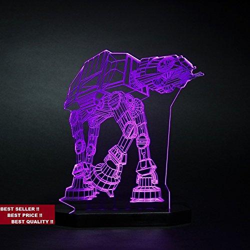 3d AT-AT Walker Lamp Star War Led Night Light Table Lamp Kids Room Bedroom Gift