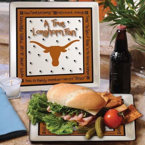 Ncaa Texas Longhorns True Fan Ceramic Square Plate