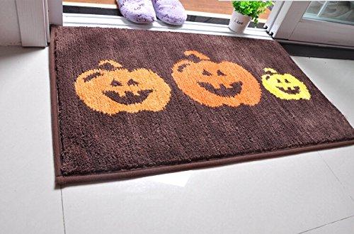 Rich Liwanjia Mat zucca di Halloween zucca Zerbino Mat tappeto in salotto Porta d'ingresso Porta ( Colore : Brown , Dimensione : 80cm*50cm )