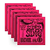 Ernie Ball 2223 Nickel Super Slinky Custom Gauge Electric Guitar Strings - 5 Pack
