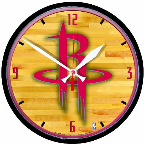 NBA Houston Rockets Round Clock