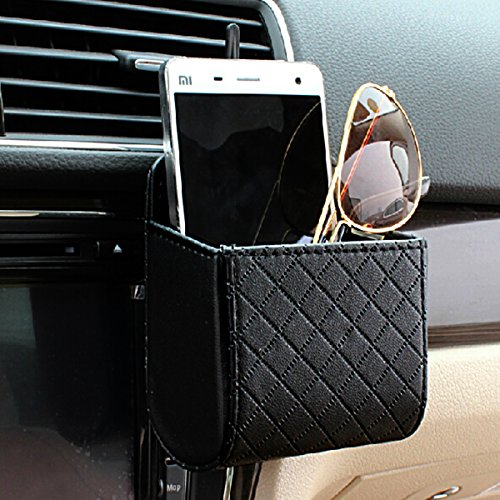 KDL Car Air Vent Cell Phone Pouch Holder Storage Bag Pocket (Black) (Air Vent Pouch compare prices)