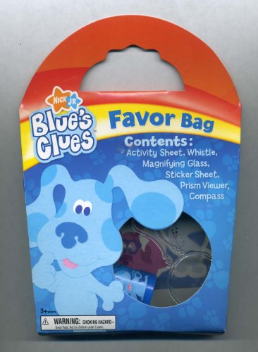 Blue's Clues Party FAVOR BAG (Sticker Sheet, Prism Viewer, Compass, Whistle, Magnifying Glass, Activity Sheet)