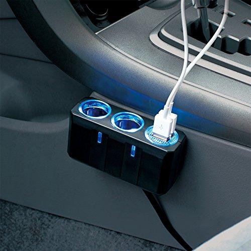 槌屋ヤック 電源ソケット リングライトソケット ツイン+2口USB 4.8A PZ-711