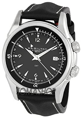 Hamilton Men's H32615835 Jazzmaster GMT Traveler Black Dial Watch