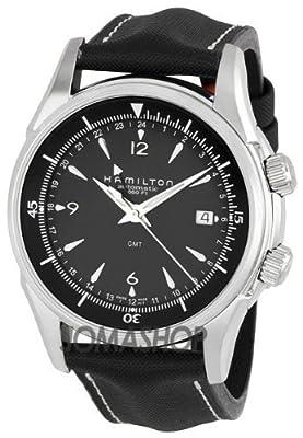 Hamilton Men's H32615835 Jazzmaster GMT Traveler Black Dial Watch by Hamilton