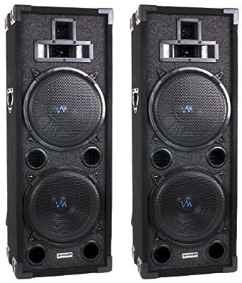 """New VAS428P 8"""" 800 Watt 4 Way DJ Passive Loud PA Professional Speaker System"""