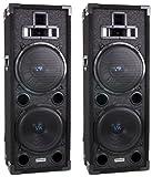 """Two VM Audio VAS4210P 2200 Watt 4-Way Dual 10"""" DJ Loud Speakers System (Pair)"""