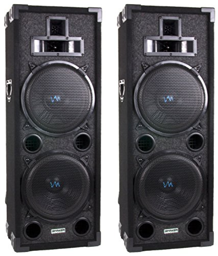 "Two Vm Audio Vas4210P 2200 Watt 4-Way Dual 10"" Dj Loud Speakers System (Pair)"