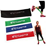 "Highest Quality Athleema Set of 3 Loop Bands (Light, Medium, Heavy) 10"" X 2"" the Best Exercise Loop Resistance Bands for Any Workout. Great for Home Gyms, Yoga, Pilates, Physical Therapy. 100% Natural Latex. Lifetime Guarantee. Special Low Introductory Price."