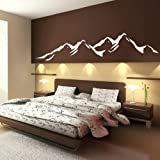 Mountains - Removable Vinyl Decal / Art Decor Wall Sticker / Art Wall Decal RA48
