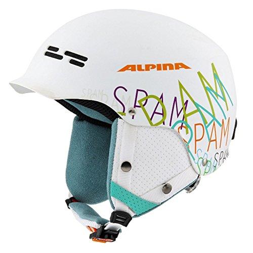 alpina-adulti-casco-da-sci-cappello-bianco-weiss-spam-matt-white-matt-spam-58-61-cm