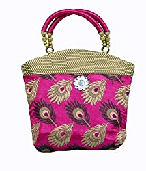 Kuber Industries Women's Mini Handbag 10*10 Inches (Pink)