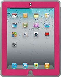 OtterBox Defender Series Case with Screen Protector and Stand for iPad 4th Generation, New Ipad & Ipad 2 - Pink Alpenglow