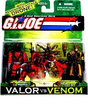 Razor Trooper and Neurotoxin - GI Joe Real American Hero Valor vs Venom Figure