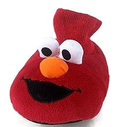Sesame Street Elmo Toddler Boy\'s Red Sock Top Slippers (9-10)