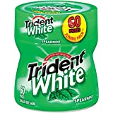 Trident White Sugar Free Gum, Spearmint, 60-Piece Bottle (Pack of 4)