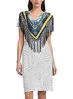 Desigual Vestido Melange (Blanco Roto / Multicolor)