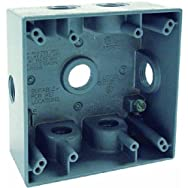 Hubbell5938-0Do it Electrical Outdoor Outlet Box-2 GANG GRAY OUTDOOR BOX