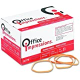 Office Impressions Rubber Bands, Size 33, 0.125 x 3.5 Inches, 630 Per 1 lb Pack (82176)