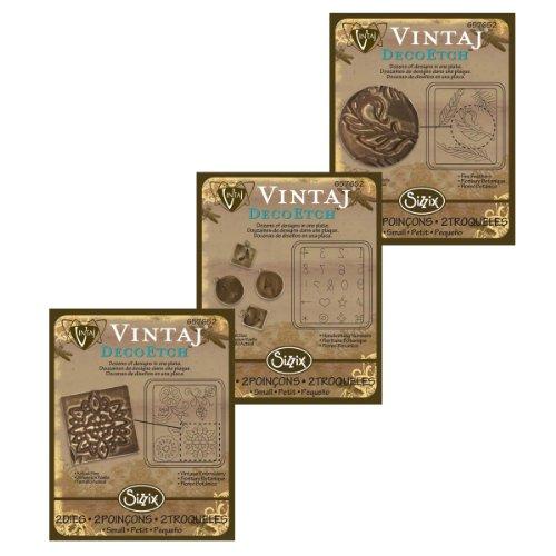 3 Pack Vintaj DecoEtch Die Set 1C For Sizzix Bigkick Machine (1 Set)
