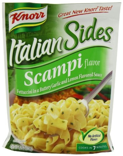 Knorr Italian Sides, Scampi Flavor Pasta, 4.2-Ounce Pouches (Pack Of 12)