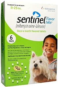 Sentinel Flavor Tabs (Brown) - 2-10 lbs - 6 count