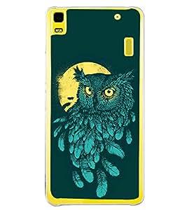 Night Owl 2D Hard Polycarbonate Designer Back Case Cover for Lenovo A7000 :: Lenovo A7000 Plus :: Lenovo K3 Note